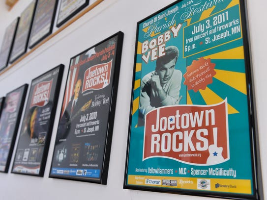 Posters from past Joetown Rocks! events featuring Bobby