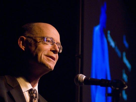 John Killacky, executive director of the Flynn Center, speaks in 2010 at FlynnSpace in Burlington.