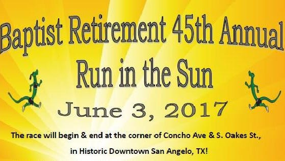 The 45 annual Run in the Sun is slated for June 3 in San Angelo.
