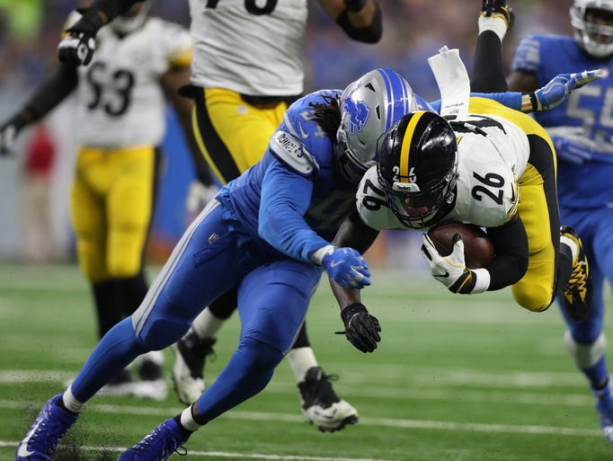Le'Veon Bell, Ziggy Ansah, Steelers vs Lions, Steelers report card lions