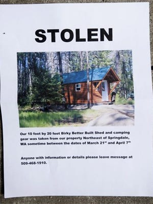 Stevens County Sheriff Kendle Allen says deputies have located a log cabin that a family said had been stolen off its foundation.
