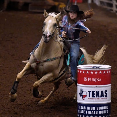 Hannah Hammond of Abilene competes in barrel racing