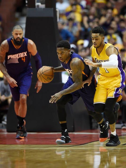 NBA: Preseason-Phoenix Suns at Los Angeles Lakers