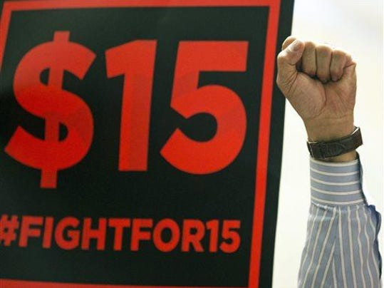 Fight for 15 sign