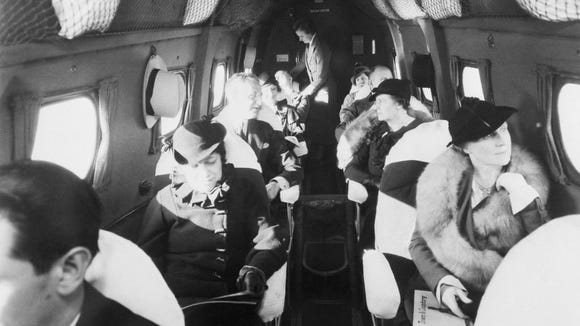 United Airlines passengers 1933