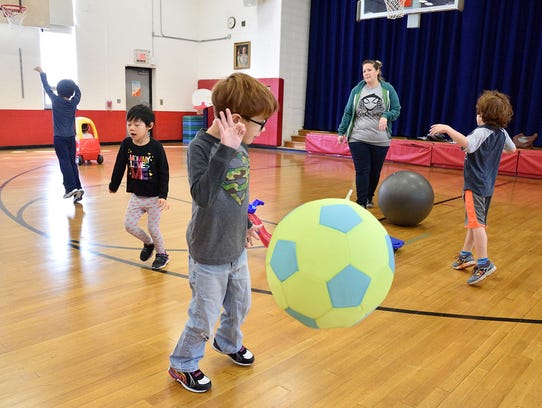 Kids enjoy free play time at the Valley Program in