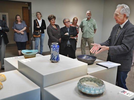 Paul McCoy, a professor of art in ceramics at Baylor