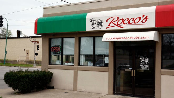 Rocco's colorful entrance shows its dedication to Italian food.