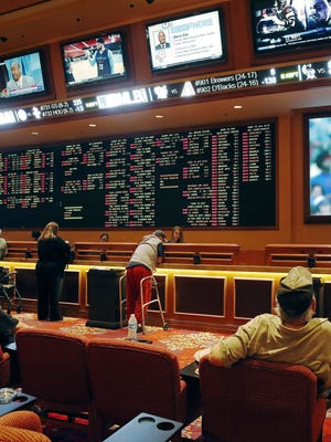 The Supreme Court's decision will expand sports betting beyond Las Vegas, seen here, and affect other issues from marijuana laws to sanctuary cities.