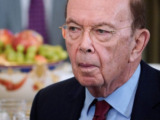 Commerce Secretary Wilbur Ross speaks during the 2018