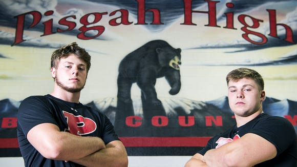 Pisgah's Trey Morgan, left, and Michael Parrott.