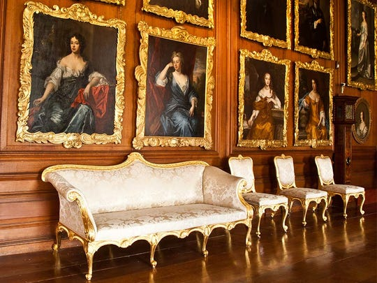 Althorp House in Northamptonshire, England, which is the final resting place of Diana, Princess of Wales.