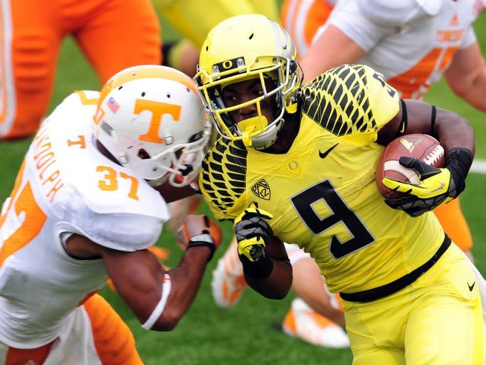 Sept. 14, 2013: Tennessee at Oregon. Oregon won 59-14.