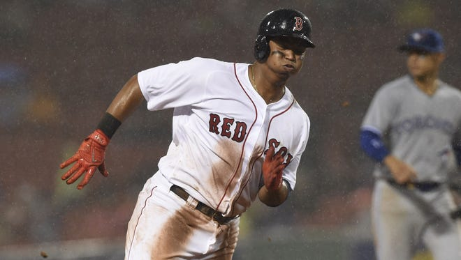 Rafael Devers hit .284 with 10 homers in 58 games for the Red Sox last sesaon after being promoted to the majors at age 20.