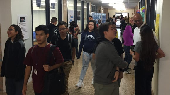 Irvin High School's New Tech Network is housed in a second-floor corridor in the Northeast El Paso school.