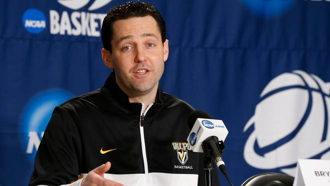 Valparaiso Crusaders coach Bryce Drew says he doesn't talk about the shot with players.
