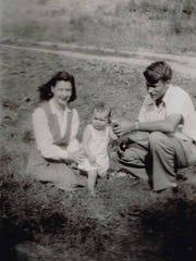 Pam Dillard Coates, Braxton Coates and baby Carole.