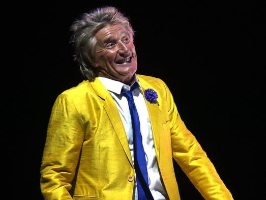 Rod Stewart performs at the KFC Yum! Center in Louisville. June 3, 2014.