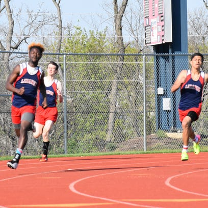 Lebanon swept the boys 400 on Tuesday, as Patrick Bray,