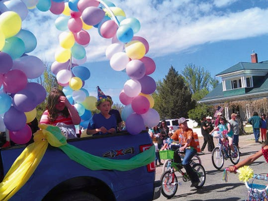 Kids joined in the fun with decorated bicycles during the Smokey Bear Days parade in Capitan, Saturday.