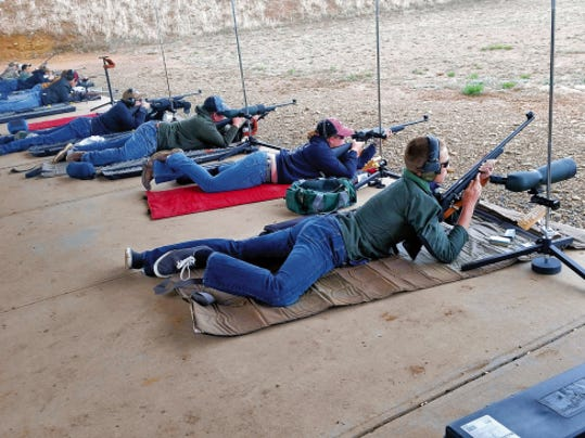 Courtesy Photo   Luna County 4-H shooters use shooting sports equipment that was purchased from an 8,000 grant provided through the National Rifle Association.