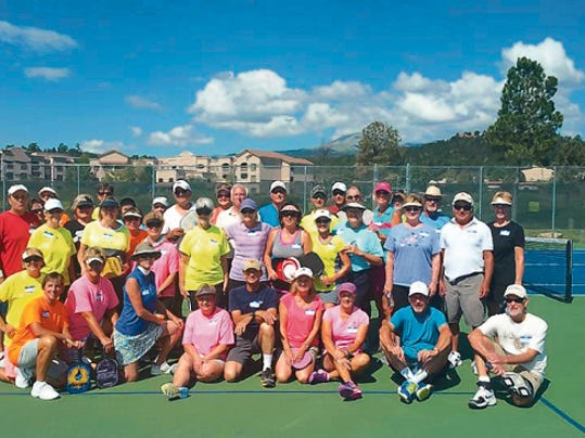 The Ruidoso Pickleball Club hosted the San Angelo Club for a tournament Saturday and Sunday.