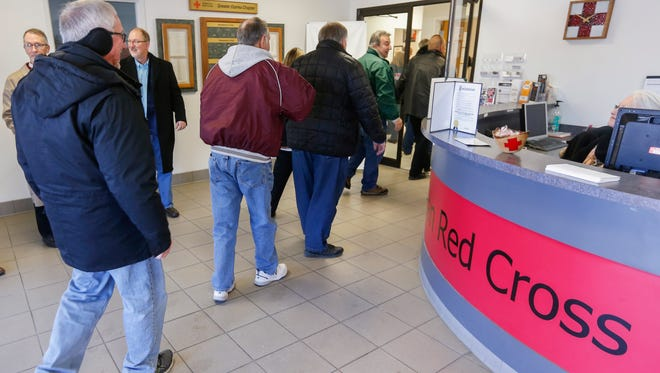 A group of retirees and senior citizens visited the American Red Cross on Wednesday, Jan. 17, 2018 as part of a new City of Springfield program called Give 5 that helps them get involved in volunteer work.