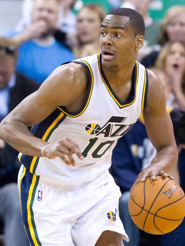 USA; Utah Jazz guard Alec Burks (10) has agreed to