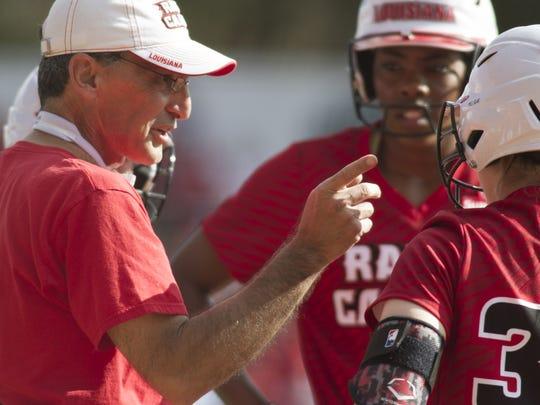 UL softball coach Michael Lotief and his Ragin' Cajuns