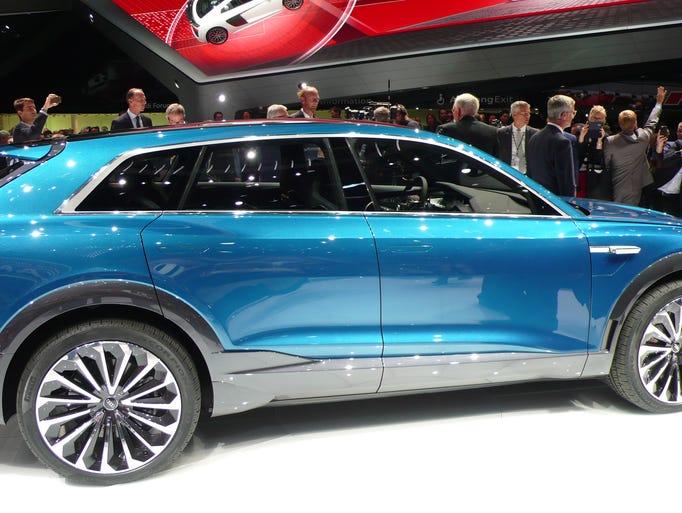 Audi Shows Off E Tron Quattro Luxury Electric Crossover