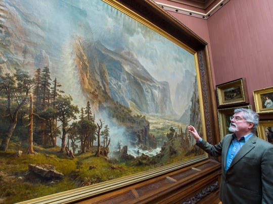 "Bob Joly, director of the St. Johnsbury Athenaeum, discusses the upcoming restoration of Albert Bierstadt's ""The Domes of the Yosemite"" on Friday, January 13, 2017."