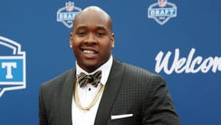 Laremy Tunsil (Mississippi) on the red carpet before