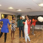 UCF's African Student Organization members rehearse for the Mr. and Miss Africa Pageant.