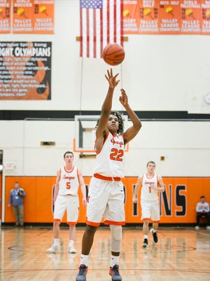 Sprague's Jailen Hammer shoots a free throw in a game against West Salem as the schools face each other for first place in the Greater Valley Conference on Tuesday, Feb. 7, 2017, at Sprague High School. Sprague beat West Salem 71-65.
