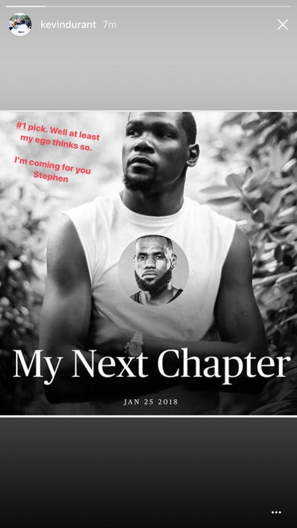 Kevin Durant joked he'll sign with whoever wins the next NBA championship
