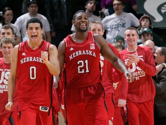 AP Nebraska Michigan St Basketball