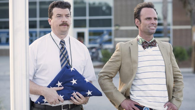 Danny McBride, left, and Walton Goggins face off as dueling 'Vice Principals' in HBO's new comedy.