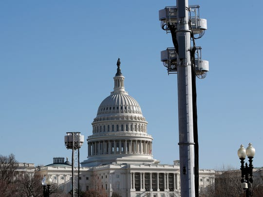 Temporary communications towers have been set up near