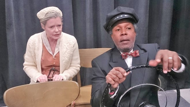 Sheree J. Wilson as Miss Daisy and Clarence Gilyard Jr as Hoke Colburn in a production of Driving Miss Daisy -