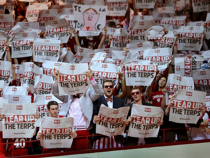 The Indiana University student section at Assembly