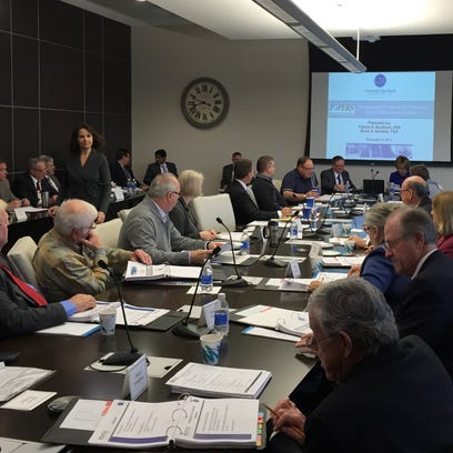 The photo shows a meeting of the  Investment Board