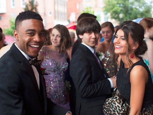 Students attend the York Suburban High School prom at the Valencia Ballroom in York.