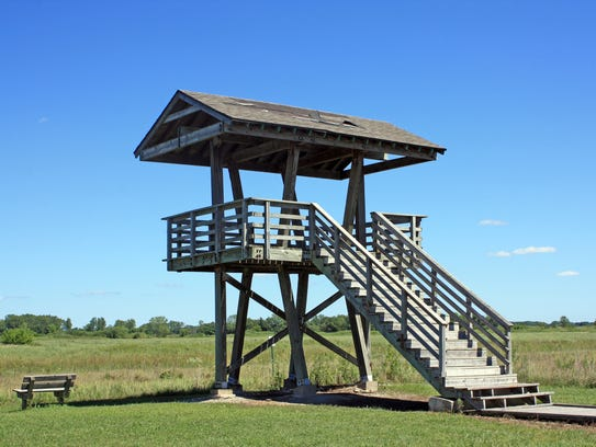 A small observation tower allows visitors to get a