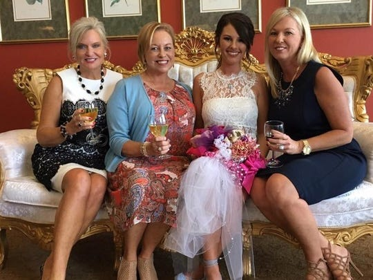 Bridal shower Friends gathered at the Evansville Country