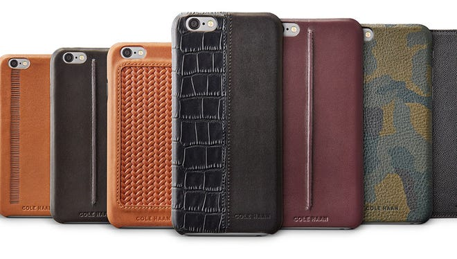 The Cole Haan smartphone cases for iPhone 6 and iPhone 6+ models, available at Best Buy.