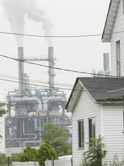 The Bayway Refinery, as seen in this 2005 file photo, can be seen from Gilchrist Avenue in Linden. The refinery borders a large residential area.