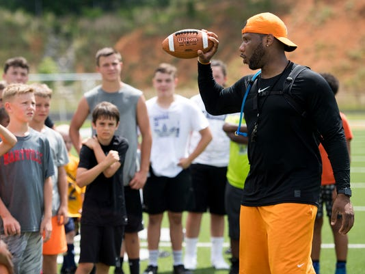 VFL Tennessee Vols football camp BP.JPG