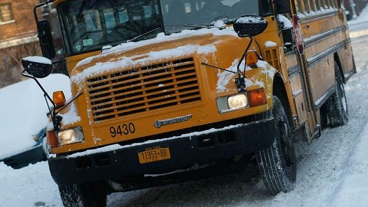 Several schools are dismissing early because of snow fall.