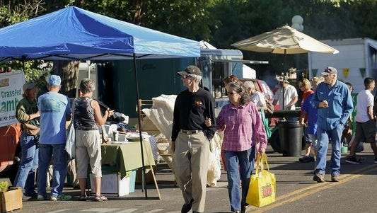 There are 25 to 30 vendors selling produce, baked goods, jams and other food each week at the Great Falls Original Farmers' Market.