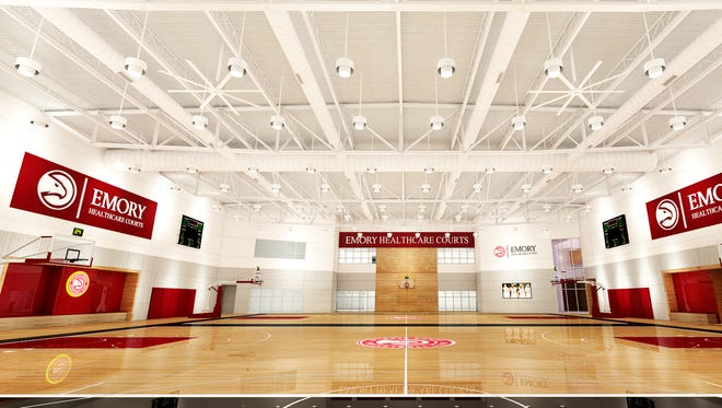 The Hawks are partnering with Emory University and P3 on their new practice facility.